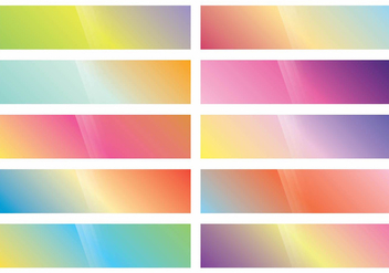 Webkit Linear Gradient Top set - Kostenloses vector #373837