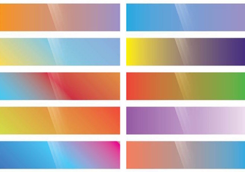 Webkit Linear Gradient Top set - vector #373867 gratis
