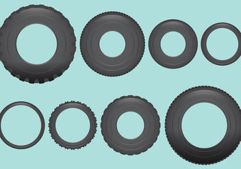 Vehicle Tires Vectors - vector gratuit #373907