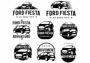 Ford Fiesta Badge Set - vector #373947 gratis