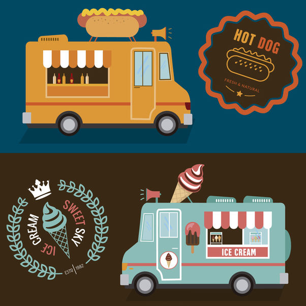 Foodtruck double design - Free vector #373987
