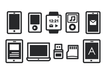 Gadget Icon Set - vector gratuit #374057