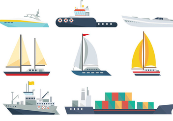 Free Ship Icons Vector - Free vector #374157