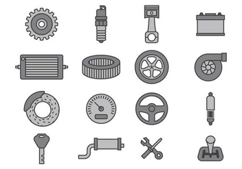 Car Mechanic Icon Sets - vector gratuit #374167