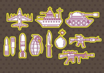 World War Vector Icons - бесплатный vector #374237