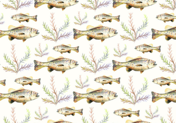 Free Vector Watercolor Bass Fish Background - Free vector #374247
