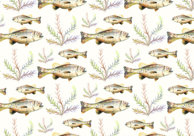 Free Vector Watercolor Bass Fish Background - vector #374247 gratis
