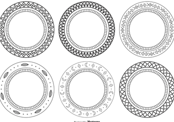 Decorative Frame Set - vector #374337 gratis