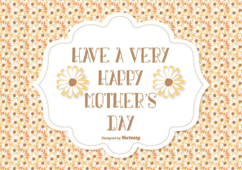 Mother's Day Vector Illustration - vector gratuit #374377