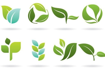Leaves Logos - vector gratuit #374417