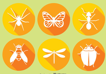 Insect Circle Icons - vector gratuit #374437