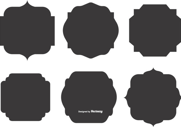 Blank Vector Label Shapes Free Vector Download 374467 ...