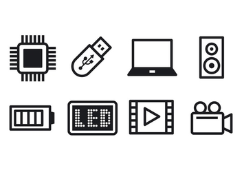 Free Technology Icon Set - vector #374477 gratis