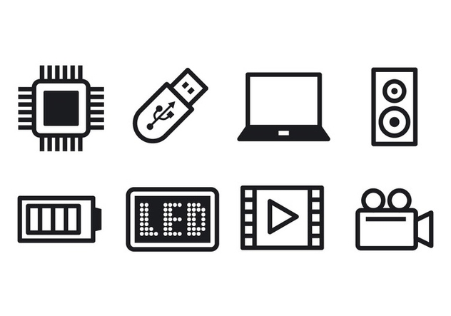 Free Technology Icon Set - Free vector #374477