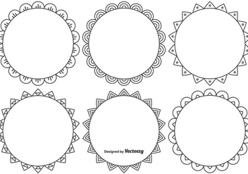 Cute Decorative Frame Set - Free vector #374487