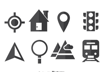Map Legend Icons Vector - Free vector #374507