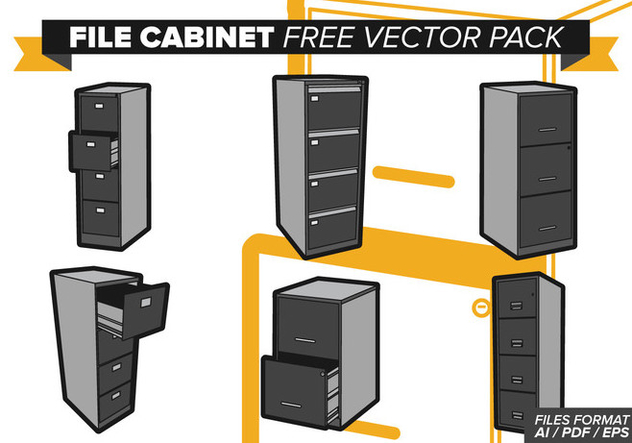 File Cabinet Free Vector Pack - Free vector #374527