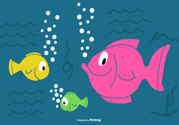Sea Fish Vectors - vector gratuit #374557