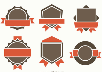 Blank Badge Template Vector - Kostenloses vector #374567