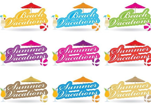 Beach Theme Titles - Free vector #374577