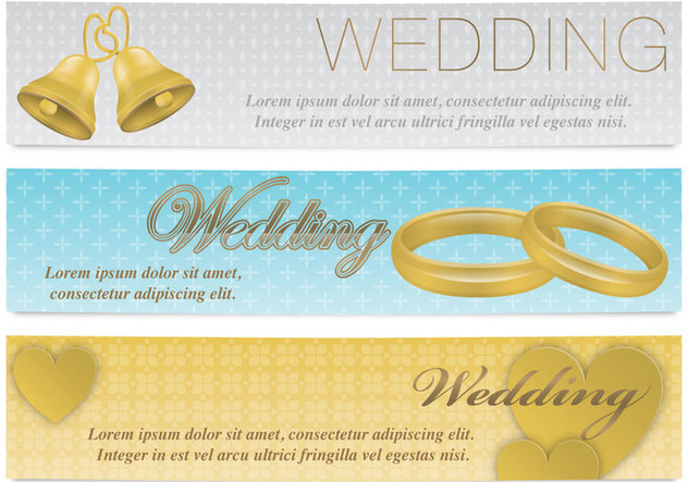 Wedding Banners - Free vector #374587