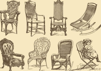 Old Style Chairs - vector gratuit #374627