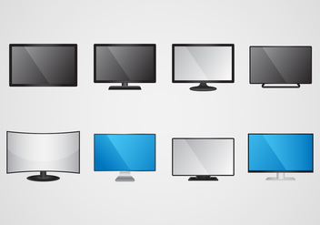 Free Led Screen Monitor Vector - бесплатный vector #374637