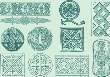 Celtic Decorations - vector gratuit #374687