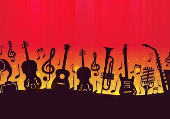 Free Music Background Vector - vector gratuit #374767