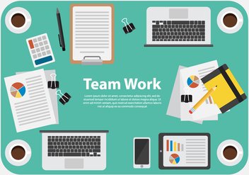 Free Business Team Work Illustration Vector - Kostenloses vector #374807
