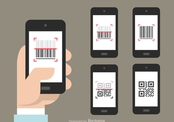 Free QR And Barcode Scanner Vector Icons - Kostenloses vector #374827