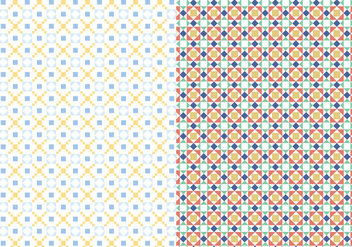 Decorative Mosaic Pattern - Free vector #374877