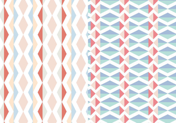 Abstract Geometric Pastel Pattern - vector gratuit #374897