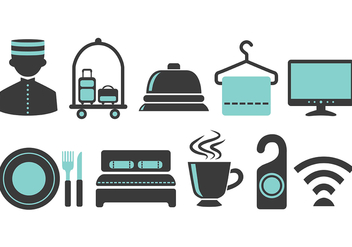 Blue Concierge Vector Icons - Free vector #374907