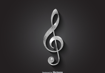 Free Silver Vector Violin Key - бесплатный vector #374947