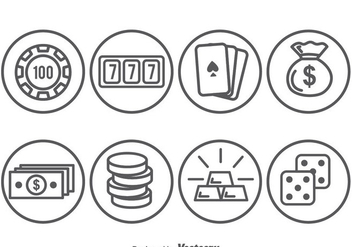Casino Element Circle Icons - Free vector #374967