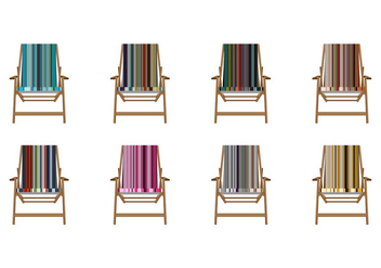 Free Stripes Canvas Deck Chair Vector - vector gratuit #374977