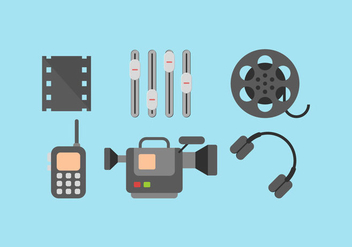 Free Video Editing Vector 1 - vector gratuit #375017