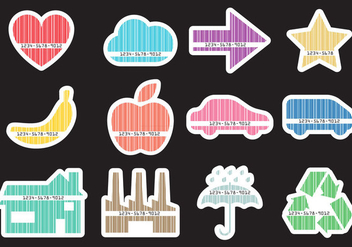 Barcode Shapes - vector #375047 gratis