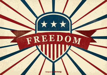 Retro Freedom Illustration - vector gratuit #375077