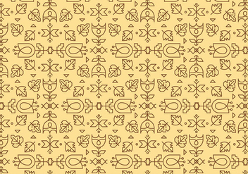 Yellow Outline Geometric Pattern - vector gratuit #375157
