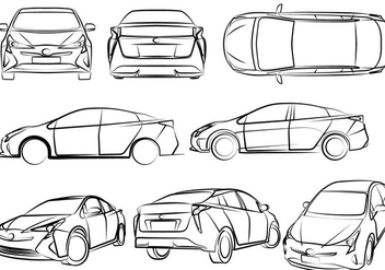 Free Eco-Friendly Cars Vector Illustration - Kostenloses vector #375187