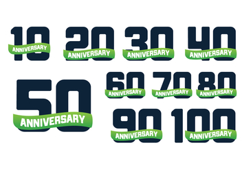 Free Anniversary Years Vector - бесплатный vector #375197