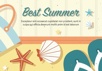 Free Best Vector Summer Illustration - бесплатный vector #375217