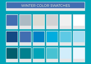 Free Winter Vector Color Swatches - vector gratuit #375277