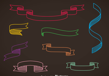 Colorful Sash Vector Set - vector gratuit #375307