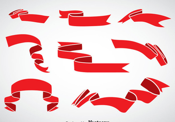 Red Sash Vector Set - vector gratuit #375327