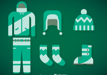 Winter Coat Vector Set - Free vector #375337
