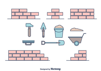 Bricklayer Vector - Free vector #375357