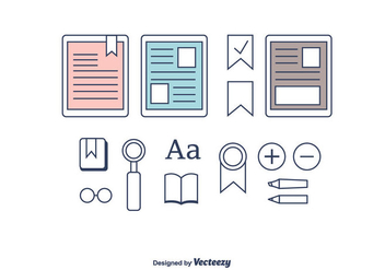 E-Reader Icons - vector #375367 gratis